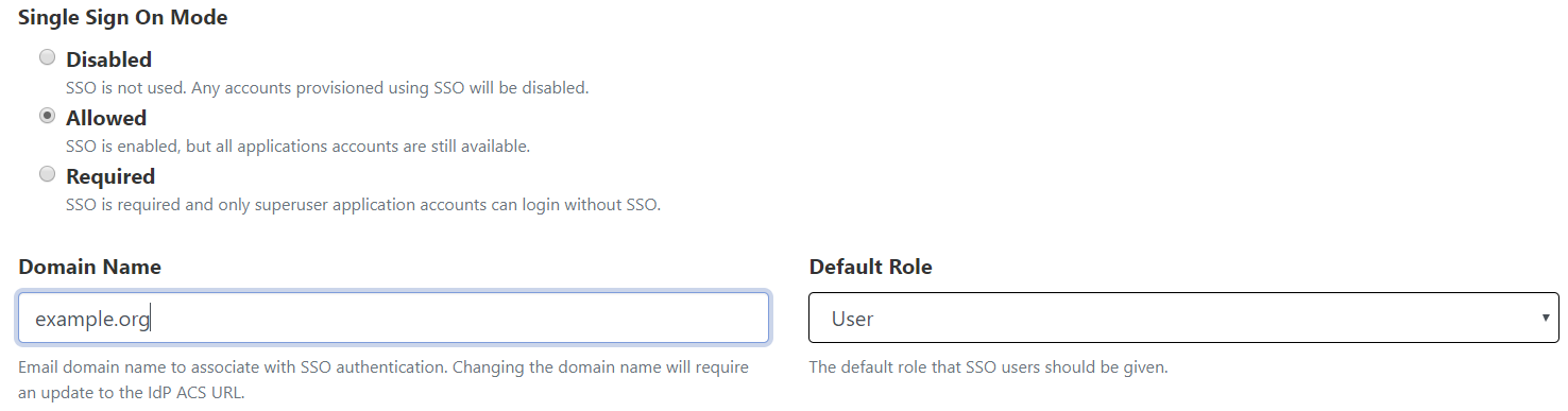 SSO Default Role